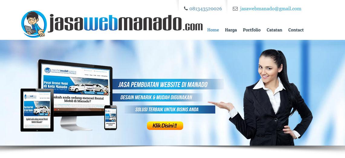 Banner Jasa Pembuatan Web di Manado